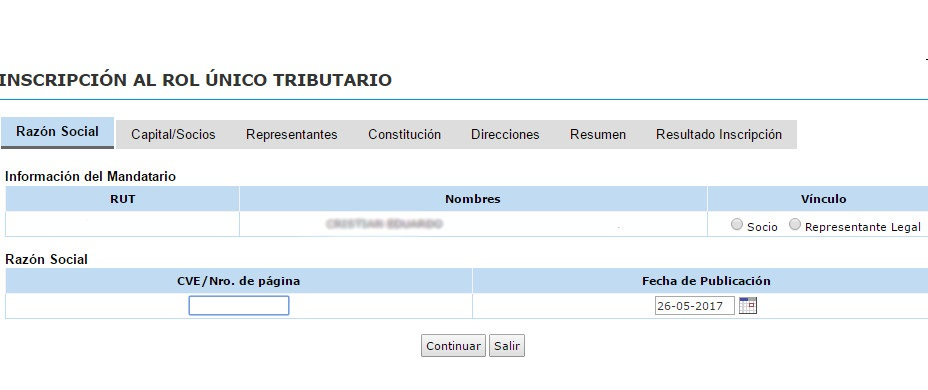 Rut empresa en SII.CL 2.2