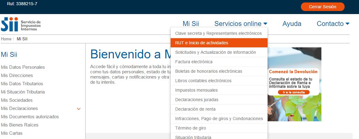 Rut de empresa en SII.CL 1.0