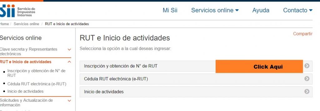 Rut empresa en SII.CL 2.0