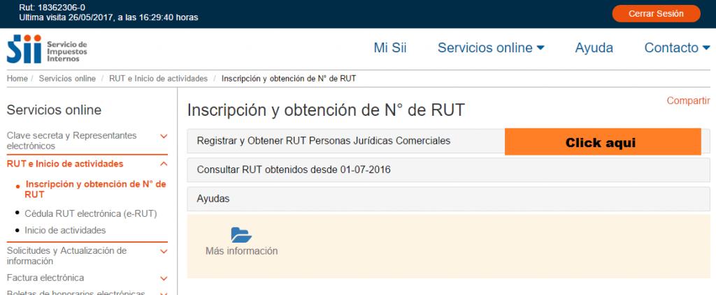Guía para obtener Rut empresa en SII.CL 2.1