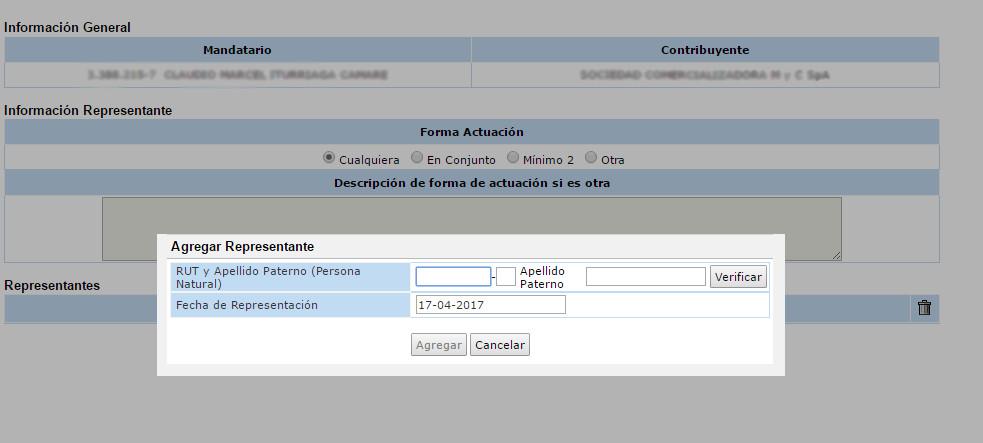 Rut de empresa en SII.CL 4.3
