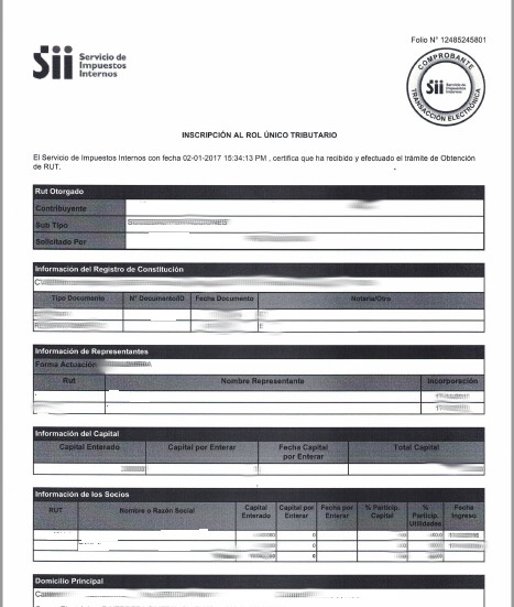 Rut de empresas en SII.CL 8.0