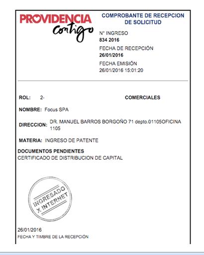 Patente Municipal Providencia Online 5.0