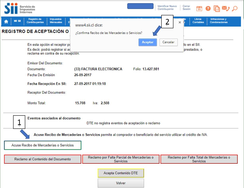 Acuse de recibo Facturación electrónica f29 paso 9