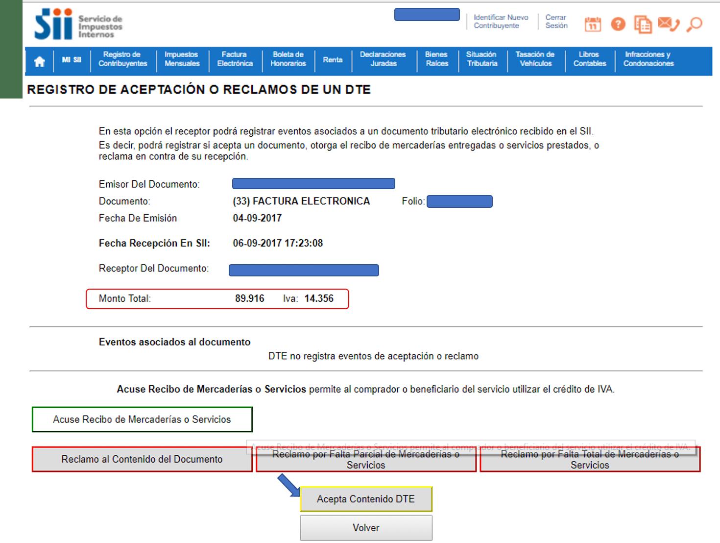 Acuse de recibo Facturación electrónica f29 paso 10