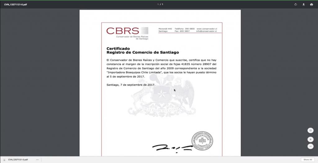 certificado de vigencia registro de comercio paso 20